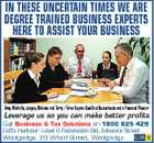 4697831abHC IN THESE UNCERTAIN TIMES WE ARE DEGREE TRAINED BUSINESS EXPERTS HERE TO ASSIST YOUR BUSINESS Amy, Michelle, Jurgen, Melanie and Terry - Three Degree Qualified Accountants and a Financial Planner Leverage us so you can make better profits Call Business & Tax Solutions on 1800 625 429 Coffs Harbour: Level 6 Federation Bld, Moonee Street Woolgoolga: 29 Wharf Street, Woolgoolga