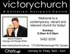 victorychurch A C h ri st i a n O u t re a c h C e n t re Welcome to a contemporary, vibrant and relevant church for today! Sundays 9.30am & 6.30pm Senior Pastors George and Margie Miller 5482 8206 www.victorychurch.com.au 173 Old Maryborough Rd, Gympie Chatz cafe monday to Friday 9am - 4pm f