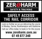 SAFELY ACCESS THE RAIL CORRIDOR Look no further as we are delivering the course in Mackay, Sarina, Rockhampton and Gladstone Call our office today to book in for the course www.zeroharm.com.au 07 49 877 340