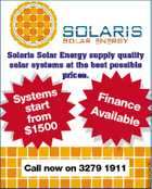 Solaris Solar Energy supply quality solar systems at the best possible prices. Fina nce Avai lable Call now on 3279 1911 223940AAHC s System rt sta from $1500