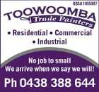 QBSA 1085987 * Residential * Commercial * Industrial No job to small We arrive when we say we will! Ph 0438 388 644