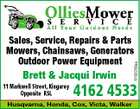 5152255aa Sales, Service, Repairs & Parts Mowers, Chainsaws, Generators Outdoor Power Equipment Brett & Jacqui Irwin 11 Markwell Street, Kingaroy Opposite RSL 4162 4533 Husqvarna, Honda, Cox, Victa, Walker