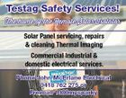 Testag Safety Services! The home of the Remote Solar Isolator Solar Panel servicing, repairs & cleaning Thermal Imaging Phone John McErlane Electrical 0418 762 275 or Freecall 1300mysparky 5479058aaHC Commercial Industrial & domestic electrical services.