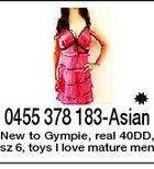 0455 378 183-Asian New to Gympie, real 40DD, sz 6, toys I love mature men