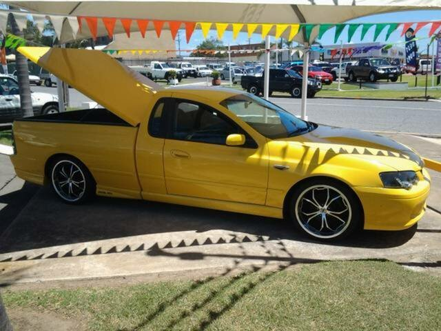 2004 Ford Falcon BA Mk II XR6 Turbo Ute Super Cab Yellow 6 Speed Manual Utility