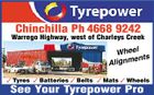 Chinchilla Ph 4668 9242 Warrego Highway, west of Charleys Creek 1726406aa Wheel ents Alignm  Tyres  Batteries  Belts  Mats  Wheels See Your Tyrepower Pro