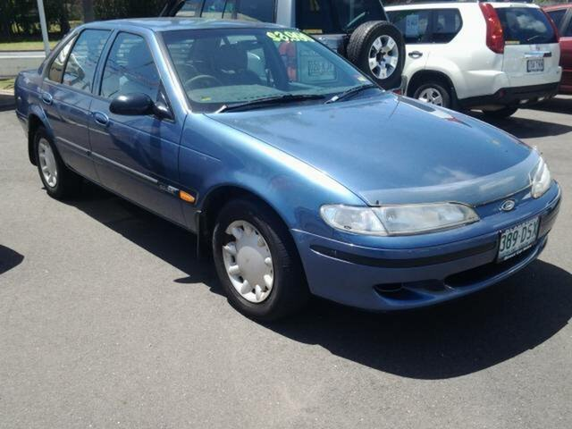 1996 Ford Falcon EL GLI Blue 4 Speed Automatic Sedan