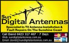 Specialist In TV Antenna Installation & Fault Repairs On The Sunshine Coast Call David 0423 317 407 - 7 Days Web sundigitalantennas.com.au Email david@sundigitalantennas.com.au