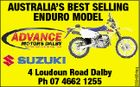 4 Loudoun Road Dalby Ph 07 4662 1255 5594954aq AUSTRALIA'S BEST SELLING ENDURO MODEL