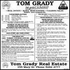 TOM GRADY business 34 years in 33 * REAL ESTATE * RURAL MERCHANDISE * CLEARING SALES Website: www.tomgrady.biz Sat Sat Sat Sat Sat FORTHCOMING AUCTIONS 10th May 17th May 24th May 31st May 14th June Clearing Sale - 9am Fruit and Veges (Gympie Show) Machinery Auction Large Clearing Sale Clearing Sale OVER 4000 AUCTIONS IN THE PAST 34 YEARS - PHONE 5482 4777 TOM GRADY - 50 YEARS OF RURAL SERVICE SATURDAY 10th MAY AT 9:00A.M. CLEARING SALE TANDUR ROAD MACHINERY AND FARM ITEMS ETC. Including: M.F. 40 backhoe with 4 in 1 bucket, David Brown 995 tractor, 6ft Fieldquip slasher, plus much more. Further details later issue. NASH STREET AND TOZER STREET Both stores open Easter Saturday from 8:30am to 12 Noon. TOM GRADY CRT NUMBER 1 FOR RURAL SUPPLIES HELP YOUR MONEY STAY LOCALLY NASH STREET - DRIVE THROUGH: Phone 5482 1824 Nash Street has a huge range of stock feeds, fencing materials including electric fencing, dips and drenches, pasture seed including Tom Grady Special Pasture Seed Mix, work clothing, work boots, etc. TOZER STREET - UNDER COVER LOADING: Phone 5482 1692 Tozer Street carries a huge variety of rural products including; stock feeds, seed and fertilizer, fencing materials, dips and drenches, dairy farm supplies, plus much more. NOTE: Datamars NLIS tags can be ordered from either store Popular Pour-on's for cattle Wintix Pour-on for tick control - (2.5 litres treats138 head at 300kg) Genesis for the control of worms and external parasites - (1 litre treats 66 head at 300kg) Maximus for the control of worms and external parasites - (1 litre treats 33 head at 300kg) PASTURE SEED including Tom Grady special pasture seed mix - Available both stores FENCING MATERIALS - Available both stores WAYNE FEWTRELL 0408 450 856 OR GEOFF SENG 0448 533 590 RURAL AND LIFESTYLE PROPERTIES * Widgee, 246ac, 4 bed block home, pool, shed with power, toilet, shower, yards, dams, creek, good fencing - $490,000 L/N 5503 * Lower Wonga, 81ac, suit horses or cattle, 3 bed home, shed, tack room and stables, yards, dams, bore and creek $609,000 L/N 5681 * Gunalda-Anderleigh, 68ac, large open plan house, large shed, 2 dams, suit cattle, horses, small crop or fruit trees $355,000 L/N 5467 * Kin-Kin, 102ac, approx 2,600 macadamia, near new 3 bed home, shed + processing plant, machinery included $975,000 L/N 5097 All above properties contact Geoff Seng on 0448 533 590 * Glastonbury 241ac 3 freehold titles all with frontage to Glastonbury Creek, 3 different soil types, cattle yards $690,000 L/N 6049 * Cedar Pocket/Kin Kin 146.6ac grazing and timber, 5 brm + study home, 2 sheds, 3 dams, picturesque property $695,000 L/N 5998 * Kin Kin 159ac, seasonal creek, dams, 8 paddocks, 2 bed home, 10m x 8m shed - $685,000 L/N 5288 * Tiaro 109ac, 3 titles, Mary River frontage, 48 meg licence, 4 brm home, 3 sheds, yards - $720,000 L/N 5976 * Veteran 80ac 2 titles, 3 brm home, views, 4 dams, spring fed creek, great value - $595,000 L/N 6050 All above properties contact Wayne Fewtrell 0408 450 856 Property Auction: Saturday 3rd May Mothar Mountain. Property Auction now Cancelled. PROPERTY SOLD. Tom Grady Real Estate 155 Mary St. Phone 5482 4777 5637983aa