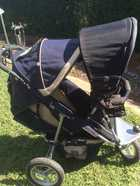 VGC. Toddler seat and sunshade included. Comes with zip on shade cover and plastic rain cover for main pram. Tyre pump, drink holder, head support and insert included., $220 ono. Toowoomba. M: 0422 134 632 E: vee.brockman79@gmail.com