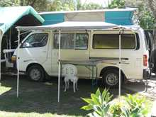 Petrol, auto, pop top, 5 seat, awning, sink, wanter tank, dual battery, solar, 12 240v fridge, portapotty, b/bar, t/bar, 209,300kms. rwc $12,500neg. 41241236