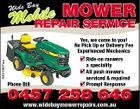 Mobile MOWER REPAIR SERVICE y Wide Ba 5431807aa Yes, we come to you! No Pick Up or Delivery Fee Experienced Mechanics Phone Bill Ride-on mowers a speciality All push mowers serviced & repaired Prompt Response www.widebaymowerrepairs.com.au