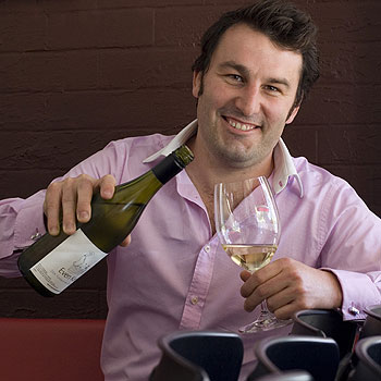Sam Coverdale relaxes at Hungry Feel Eating House in Buderim, which serves his Even Keel Wines.