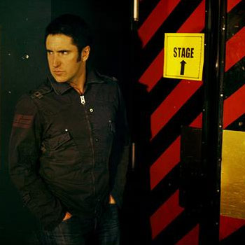 Trent Reznor of Nine Inch Nails, backstage in France. Photo: http://www.myspace.com/nin