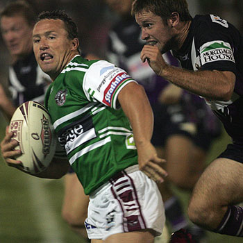 The Manly Sea Eagles and Melbourne Storm played a pre-season game at Quad Park this year.