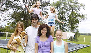 BIGGER FAMILY: The Pederson family, pictured at their family home near in Kyogle, fit with new figures showing Kyogle residents
