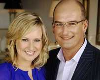 Sunrise's Melissa Doyle and David Koch.