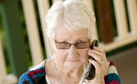 Telstra  disconnected Mavis Evans's landline phone when she asked to have the name of her recently deceased husband taken off the account.