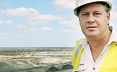 New Acland general manager Kelvin Jamieson at the open cut mining operation at Acland.