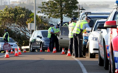 A file photo of police in action at an RBT station on the Sunshine Coast.
