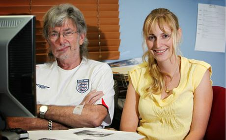 Sports Editor Alan Kennedy with former sports journalist Molly McShane in 2009.