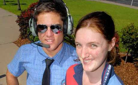 Mackay Christian College Year 12 graduates Thomas Dunbavan, 17, and Amy Corbett, 17, will embark on the next stage of their futures today.