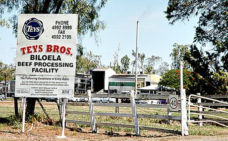 JOBS CARVE UP: Teys Bros have cut 40 jobs at the Biloela meatworks due to a gloomy market outlook for 2010.