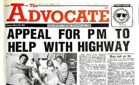 The Advocate reported a plea to upgrade the highway to dual carriageway just days after the crash and 20 years on, the message remains the same.