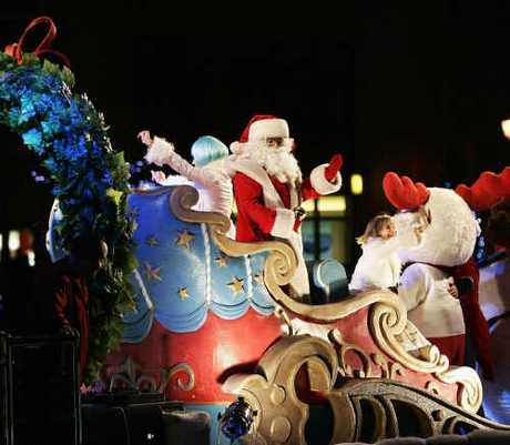 FLYING HIGH: Santa Claus has been given priority clearance to fly to Gladstone tonight. AAP