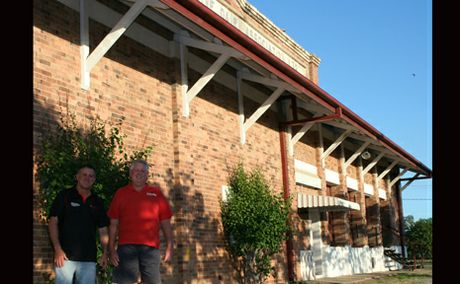 BIG FAREWELL BASH: Developer Greg Lee and Callide Power Station worker Neil Smith are part of the committee organsing the Last Chance Butter Factory Ball on February 27 that will be the community's chance to farewell the historic building.