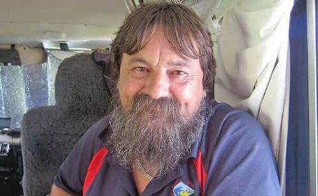 Tony Bower is distributing a cannabis tincture to people with chronic pain from the back of his van in a Nimbin car park.
