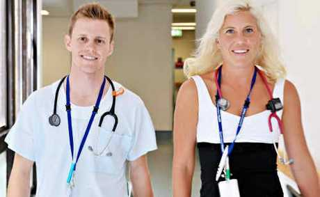 New Nambour interns Nicholas Black and Kate Gazzard.