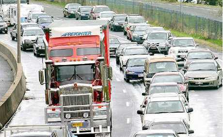 Heavy traffic on the Ipswich Motorway.