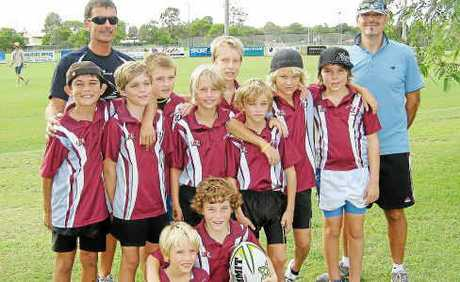 The under-12 Noosa Touch Association team travelled to Hervey Bay.