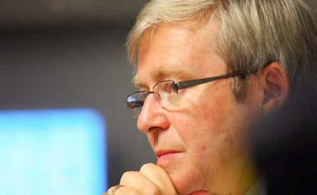 Kevin Rudd at the Rockhampton Hospital in 2010 when he was Prime Minister.