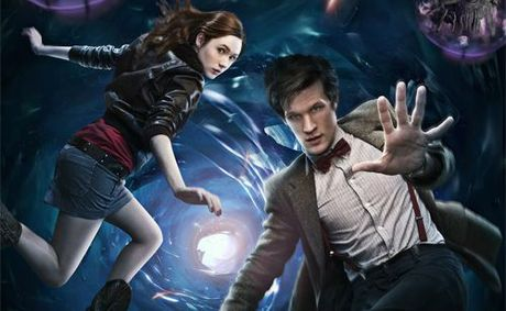 The stars of the new series of Doctor Who, Karen Gillan and Matt Smith.