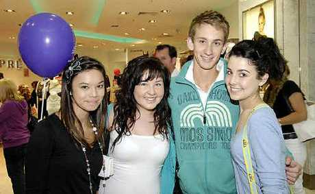 Hitting the shops for Sunday trading are (from left) Brook Salvador, Chloe Ripoll, Kaleb Reynolds and Kayla Ripoll.