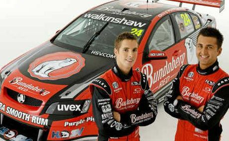 Bundaberg Red Racing team drivers Fabian Coulthard and Andrew Thompson.