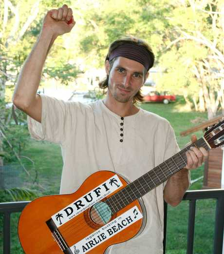 Andrew Finlay will have plenty to sing about now that busking has been legalised in the Whitsundays.