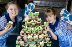 Matilda Smith and Zoe Goodger celebrating RSPCA Cupcake Day last year.