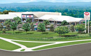 Artist's impression of the proposed Yandina shopping centre.