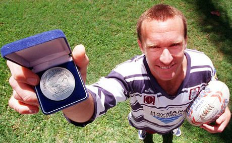 Paul White, pictured here in his Rockhampton rugby league glory days, is the new CEO of the Brisbane Broncos.