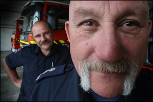 Bay of Plenty Coast senior fire risk management officer Ken McKeagg and station officer Nigel Liddicoat. Photo: John Borren.