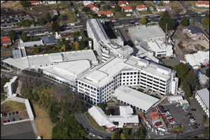 Aerial of Tauranga Hospital. Photo: John Borren.