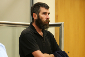 Callum Moates during a previous hearing at the Whangarei District Court.MICHAEL