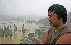 Everywhere 15-year-old Ranieoe Kakarana looks he sees the affects of rain. - Picture/Greg Robertson