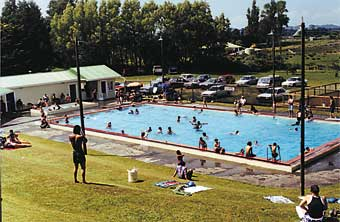 A VIEW of the Rawhitiroa Memorial Swimming Pool.