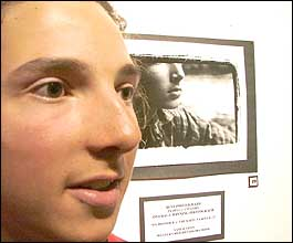 Sam Sutton with his winning photographic work. Picture: Maurice Barrow (010905xx4)