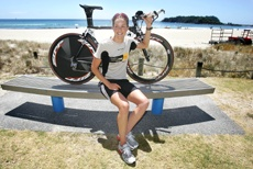 PICTURE: MARK McKEOWN: Triathlete Janine Sax has only done 11 triathlons and is already in the top echelon.